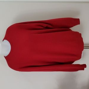 100% Cashmere Red Sweater Womans 2X